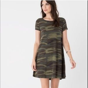 Z supply cotton T Shirt dress camo